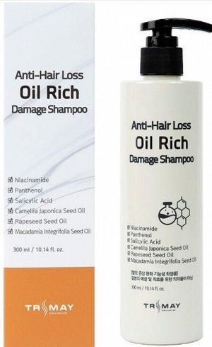 Trimay Безсульфатный  шампунь против выпадения волос Anti-Hair Loss Oil Rich Damage Shampoo