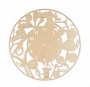 Деревянная заготовка Часы швеи фанера 40см