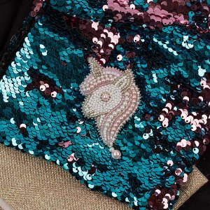 Набор для вышивки бисером Брошь Розовый единорог.