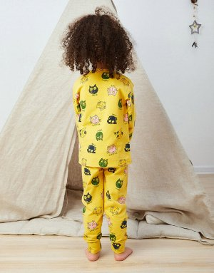 Пижама Жёлтая пижама с котиками (от 2 до 6 лет), 105-1  Состав: 100% хлопок