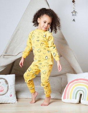 Пижама Желтая пижама с лимончиками  Состав: 100% хлопок