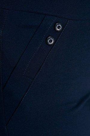 """Брюки-2683 Модель брюк: Классические; Материал: Хлопок стрейч; Фасон: Брюки Брюки """"Лайт"""" Рикардо темно-синие Брюки-стрейч прямого силуэта выполнены из мягкой ткани. По бокам и сзади декоративные карма"""