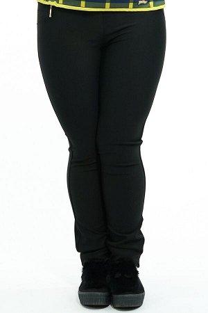 Брюки-2659 Модель брюк: Дудочки; Материал: Трикотаж, эластан;   Фасон: Брюки Брюки дудочки черные трикотаж Однотонные брюки-стрейч выполнены из плотной мягкой ткани. Модель отлично сидит за счет комфо