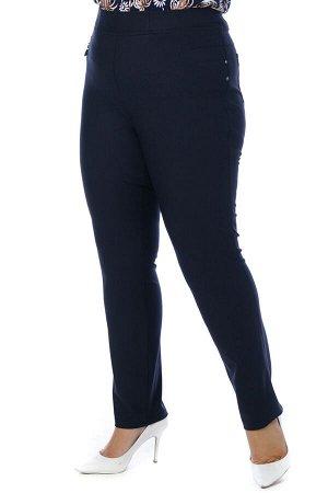 Брюки-2653 Модель брюк: Дудочки; Материал: Трикотаж, эластан; Фасон: Брюки Брюки дудочки синие трикотажные Однотонные брюки-стрейч выполнены из плотной мягкой ткани. Модель отлично сидит за счет комфо