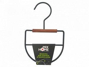"""Вешалка """"Loft"""" металл.дерево для шарфов и акс. 13х1,2х20,5см, цв. черный MHW50116 ВЭД"""
