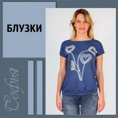 Софья ▶ ▷ Трикотаж с 36 по 72 размер ▷ — Футболки, блузки, Много Акций! Цены от 160 рублей
