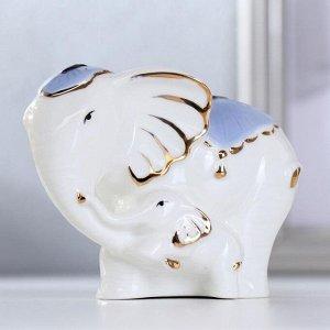 """Сувенир керамика """"Слон со слонёнком"""" 8,5х10х7,8 см"""