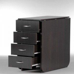Стол-книжка с ящиками Глория 606М, 1826(424)х780х753, Венге