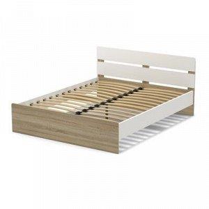 Кровать 160 (с орт.основанием) Эксон 1656х842х2048, белый/дуб сонома