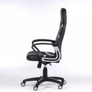"""Кресло игровое """"RUNNER"""", экокожа/ткань, черный/серый"""