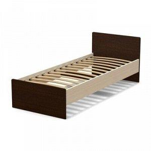 Кровать 80 (с орт.основанием) Эксон 856х710х2032, дуб млечный/венге