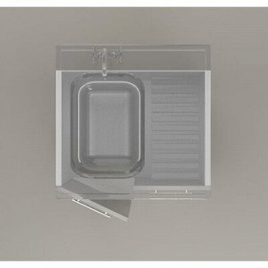 Кухня Агава 1500, Белый/Лиственница светлая