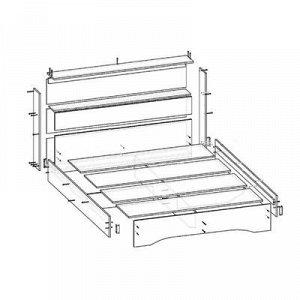 Кровать Бася 1400 с основанием, 950х1470х2220, Венге/Дуб молочный