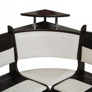 Кухонный уголок Домино стандарт 1500х1000х880 Венге/кож.зам