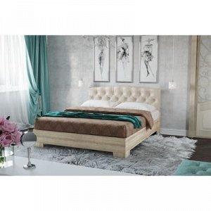 Кровать Луара-2 1400 с ортопед. осн.,1450х2050х990,Шимо свет/Беж, карет стяжка