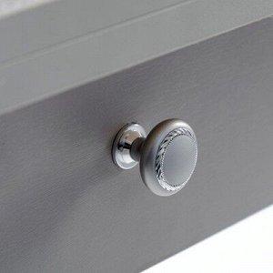 Стол ломберный с ящиком 790(1180)х590х750, хром/пластик мрамор серый