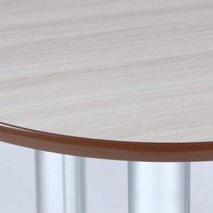 Стол обеденный овальный 600х1000, Ясень шимо светлый