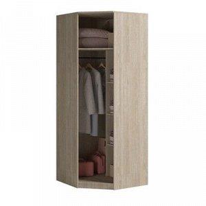 Шкаф угловой с зеркалом Светлана 2200х880х880 Дуб сонома/Белый