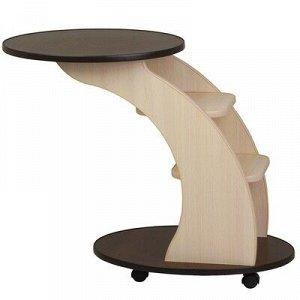 Придиванный столик 3 760х400х650 Венге/комб дуб выбеленный