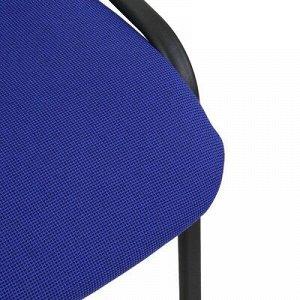 Стул Изо ткань синяя/каркас черный