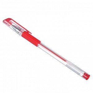 ClipStudio Ручка гелевая красная, с резиновым держателем, 14,9 см, наконечник 0,5мм
