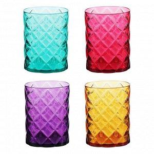 """VETTA Стакан для ванной комнаты, """"Ромбо"""", пластик, 8,3х5,7х11см, 4 цвета"""