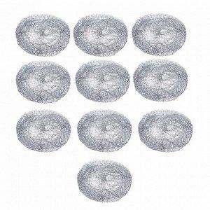 VETTA Набор губок металлических 10шт x 10г, оцинкованная сталь