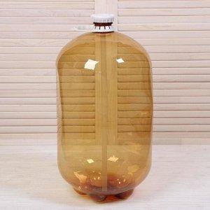 Бутыль (Кега), 30 л, для приготовления пива, вина, с ручкой и клапаном 5248380