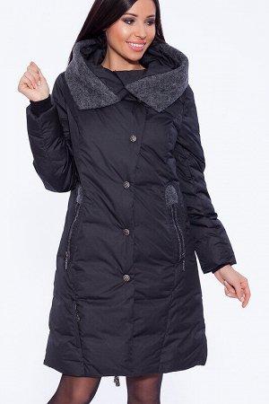 Пуховик Состав: Полиэстер 78%, Нейлон 22%.  Цвет: Черный.   Подробнее: Украшением пальто служат карманы. Типичное расположение – на уровне талии – делает их практичными и удобными. Изюминку карманам д