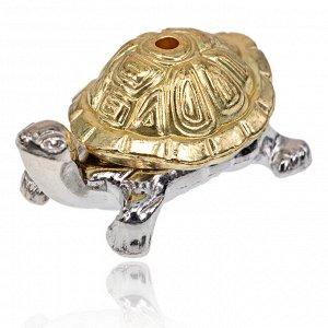 PBK008-GS Подставка для благовоний Черепаха, цвет серебряно-золотой