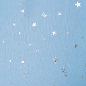 Портьера Крошка Я «Звезды» без держателя цвет голубой. 170?260 см. блэкаут. 100% п/э