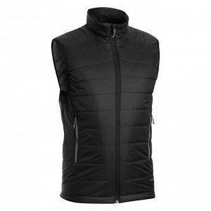 Жилет Утеплитель из полиэстера (125 г/м²). Низ куртки затягивается завязкой. Синтепон на 70% состоит из втор. полиэстера. подкладка с низк. воздействием СО₂. Легко складывается в свой левый карман бла