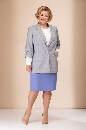 Женский комплект жакет, блузка и юбка