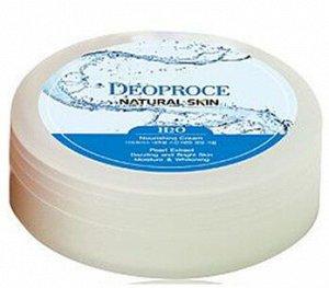 Увлажняющий крем с ледниковой водой DEOPROCE Natural Skin H2O Nourishing Cream для лица и тела