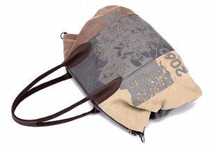 Сумка Парусиновая сумка - привлекательная расцветка - надежная фурнитура - идеально подойдет для девушек и женщин, ведущих активный образ жизни.  Материал парусина повышенной водоупорности Подклад изн