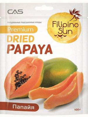 Плоды папайи сушеные, Filiino Sun,100г