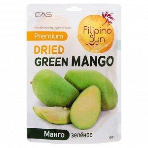Плоды зеленого манго сушеные, Filiino Sun100г
