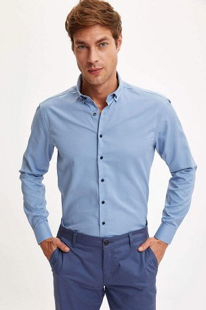 рубашка Хлопок 58%, Полиэстер 42%