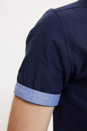 рубашка Размеры модели: рост: 1,86 грудь: 96 талия: 82 бедра: 97 Надет размер: L  Хлопок 100%