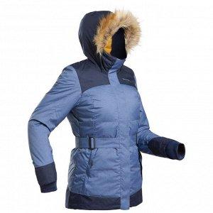 Парка легкая теплая водонепроницаемая для походов SH500 Х–WARM женская QUECHUA
