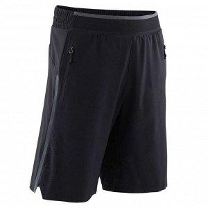 Спортивные шорты W900 для мальчиков черные DOMYOS
