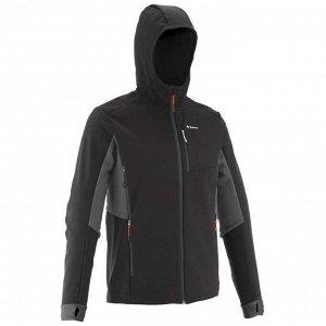 """Куртка Путешествуйте по горам под надежной защитой этой теплой и """"дышащей"""" ветрозащитной мягкой куртки софтшелл! Плотное переплетение нитей позволяет носить рюкзак без риска истирания. Ветрозащитная м"""