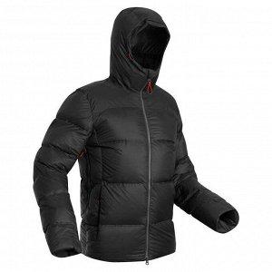 Пуховик для треккинга в горах с температурой комфорта –18°C муж. TREK 900 черный FORCLAZ