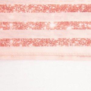 """Тюль с подхватом и ламбрекеном """"Pink magic"""" 250х200см. 100% п/э. вуаль"""