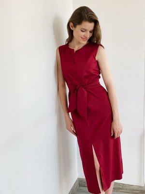 S1877 Платье бестселлер в бордовом цвете