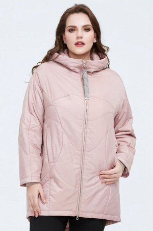Женская демисезонная куртка с капюшоном, цвет светло-розовый