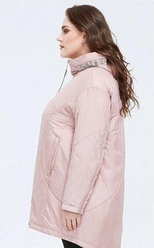 Женская демисезонная легкая куртка с капюшоном, цвет ЧАЙНАЯ РОЗА
