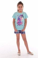 Пижама подростковая 12-082 (ментол), Единорог