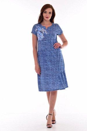 Платье женское 4-69д (синий)