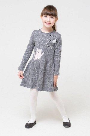 Платье(Осень-Зима)+girls (серый меланж)